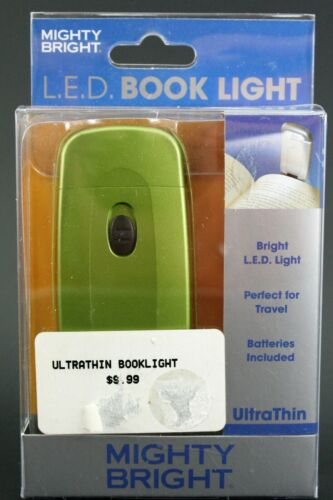 Mighty Bright L.E.D. BOOK LIGHT Ultra Thin Bright LED Light New Old Stock Green