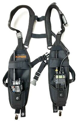 X-FIRE (2-Pack)  Radio Vest Chest Harness Universal Carry Case Front Holster