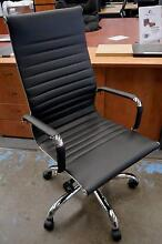 New Replica Eames Executive Office Management Chairs Black Chrome Melbourne CBD Melbourne City Preview