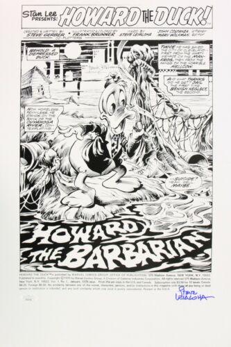 "1975 Steve Leialoha Marvel Comics ""Howard the Duck"" Signed 12x18 Print (JSA)"