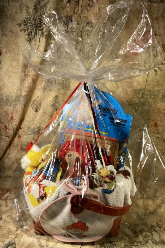 🟢 Rageddy Ann Baby Shower Gift Basket For Baby Girl Very Rare Find