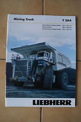 Liebherr Baumaschinen Prospekt T 284 Mining Truck