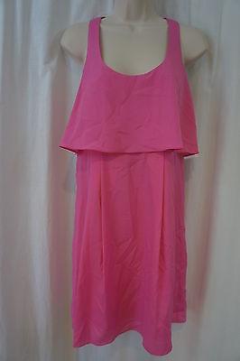 Jessica Simpson Kleid 4 Super Pink Ärmellos Racerback Cocktail Party - Rosa Racer Kostüm