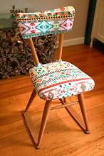 Vintage Mid Century Danish Chair with Retro Upholstery Heathmont Maroondah Area Preview