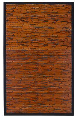 Anji Mountain 5' x 8' Cobblestone Mahogany Bamboo Rectangular Rug AMB0085-0058