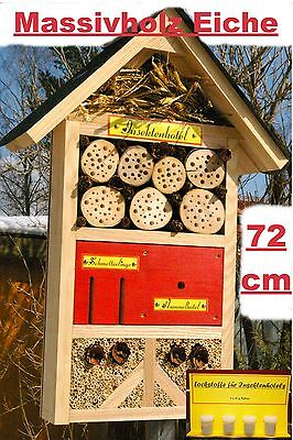 Insektenhotel/Schmetterling/XXXL/Rot/Hummelhotel/viele Insektenarten/Lockstoffe!