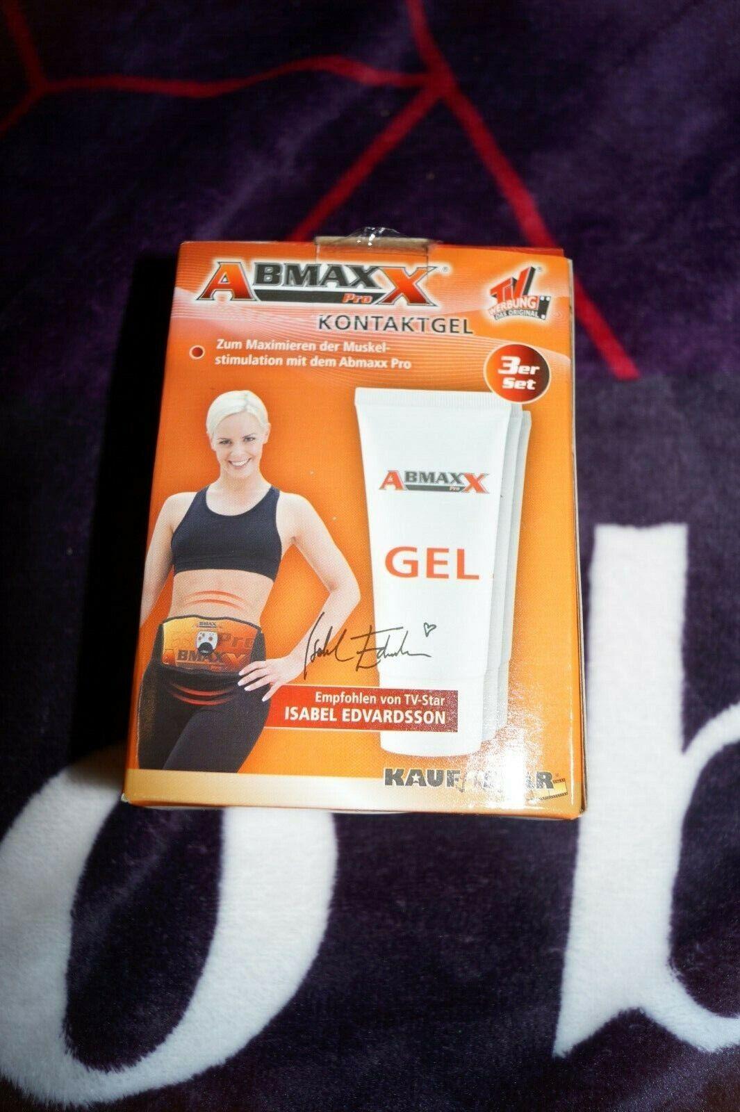 Kontaktgel Abmaxx Pro Muskelstimulation Bauchgürtel Gel Sportgürtel OVP