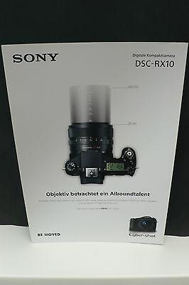 2013 SONY DSC RX10 RX 10  KAMERA PROSPEKT PHOTOAPPARAT KATALOG CAMERA BROCHURE !