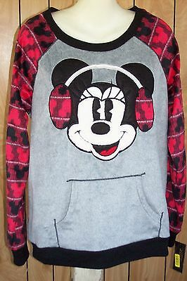 DISNEY LUXE FLEECE SLEEP PAJAMA TOP PULLOVER SHIRT M $48.00 - Disney Luxe Pajamas