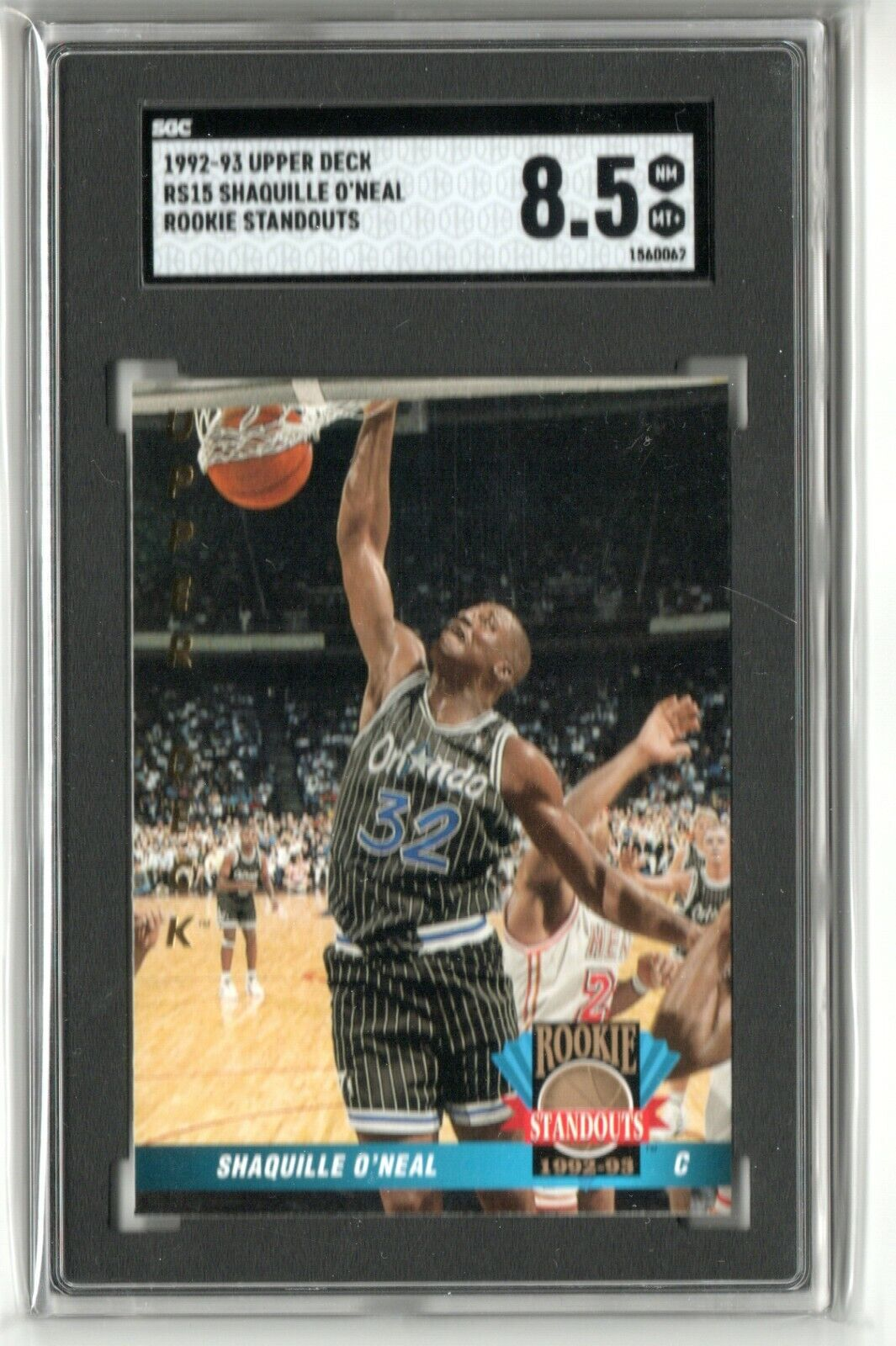 SHAQUILLE O NEAL 1992-93 Upper Deck Rookie Standouts SGC 8.5 - $5.50