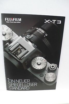 2018 FUJIFILM X T3  FUJI KAMERA PROSPEKT PHOTOAPPARAT KATALOG CAMERA BROCHURE !!