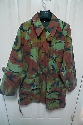BARBOUR- A90 CAMOUFLAGE  WAXED COTTON JACKET & BELT- VINTAGE -MADE@ UK- RARE- 40