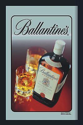 Barspiegel Ballantines Flasche, 20 x 30 cm Retro, Nostalgie, Werbung