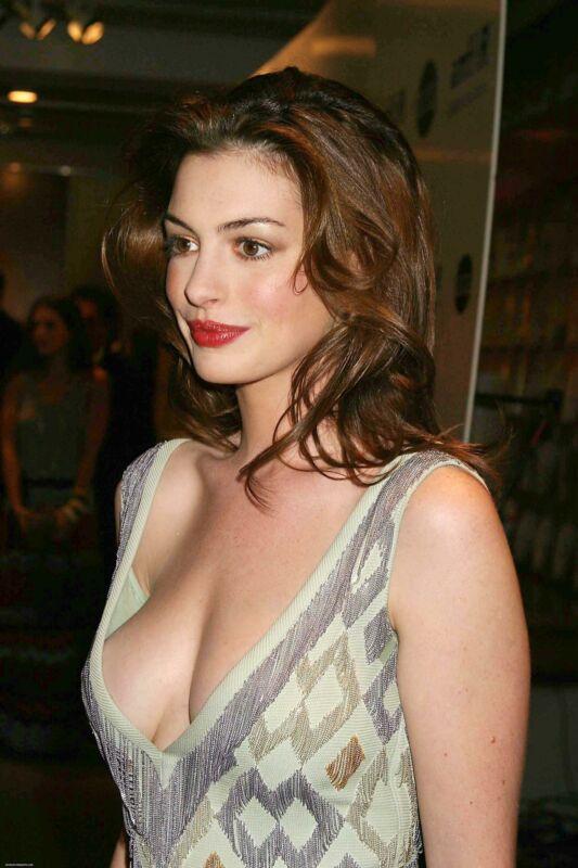 Anne Hathaway Neckline 8x10 Picture Celebrity Print