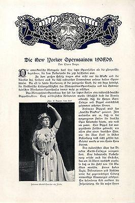 New York Oper Johanna Gadski-Tauscher B. Morena O. Hammerstein Constantino..1909