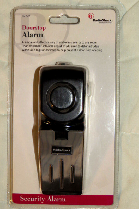 RadioShack ELECTRONIC DOORSTOP ALARM NIP 49-427