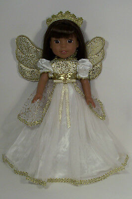 ANGEL Christmas Dress Costume Doll Clothes For 14