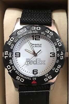 Pre Owned Fedex Federal Express Caravelle By Bulova Tachymeter Mens Watch Bin