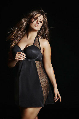 Ashley Graham Underwire Halter Chemise Womens Plus Size 4X Nwt  95