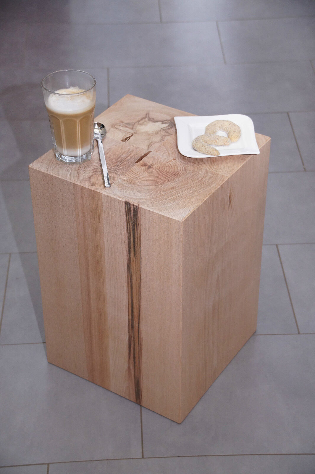 sitzblock holz block sitzhocker buche tisch hocker w rfel ma iv 45x30x30 cm eur 110 00. Black Bedroom Furniture Sets. Home Design Ideas