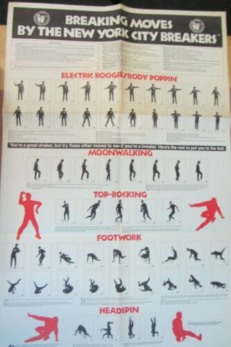 New York City Breakers poster breakdancing BREAKDANCE not vhs dvd oop Bronx 1984
