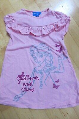 Kleid kurzarm rosa Eiskönigin/Frozen Elsa von Disney (Gr. (Elsa Kleider Von Frozen)