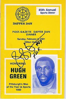 University of Pittsburgh HUGH GREEN autograph signed 1980 Dapper Dan Program