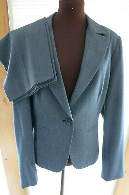 Rafaella Women's Size 14 Pants Suit Business Gray Tailored Polyester Blend EUC