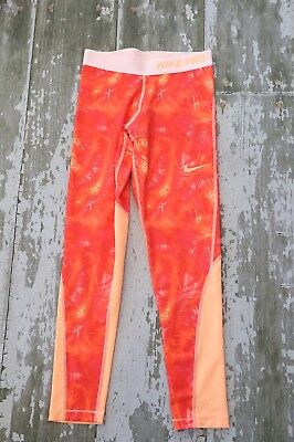 - NIKE PRO Dri FIT cool Orange Tights Athletic pants Run gym Fit Size L Large