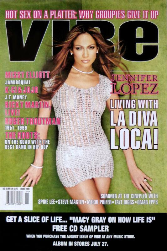 Jennifer Lopez - Vibe Magazine (1999) original magazine promo poster - ss rolled