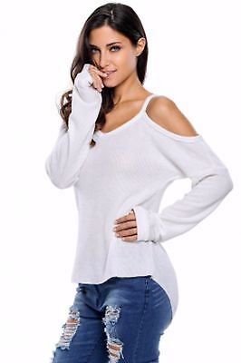 Shirt Women Short Sleeve Loose Top Usa Cold Shoulder Small Sexy Hot