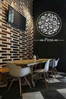 ik1068 Wall Decal Sticker Pizza Italian Restaurant Pizzeria decor art print - Pizzeria Decor