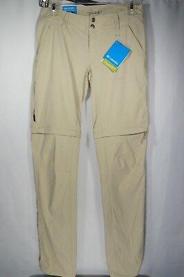 Columbia Womens Convertible Pants 2 Long Trail II UPF 50 Nylon Zip Off short Trail Convertible Pants