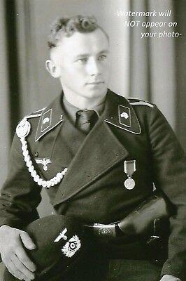 German Officer Tank Commander PHOTO World War II Panzer Wehrmacht  Uniform