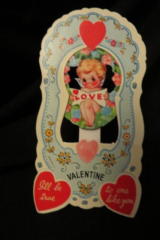 Vintage FAIRY Valentine card c. 1940s