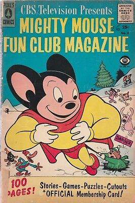CBS PRESENTS MIGHTY MOUSE FUN CLUB MAGAZINE 1957 NO.2