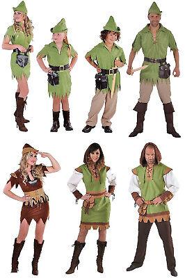 Robin Hood Peter Pan Jäger Girl Kostüm Kleid Damen Herren Kinder Mittelalter ()