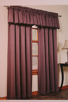 Black Gramercy Lichtenberg Room Darkening Window Curtain Pan