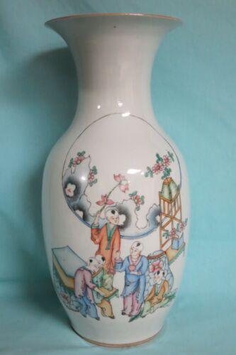 Vintage Chinese Porcelain Vase, Signed with Peom