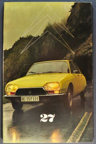 1972 Citroen Brochure Magazine GS Sedan DS-21 2CV English & French Original 72