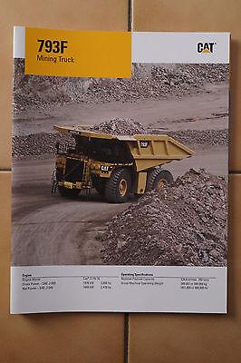 Caterpillar Baumaschinen Prospekt Cat 793F Mining Truck