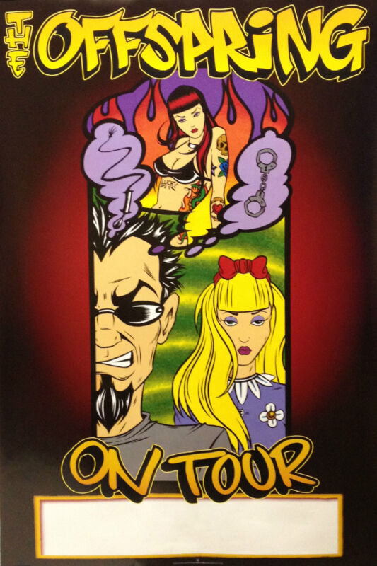 The Offspring 2000 Conspiracy Original Double Sided Tour Promo Poster