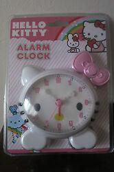 NEW Hello Kitty Alarm Clock Quartz - Adorable Pink Bow