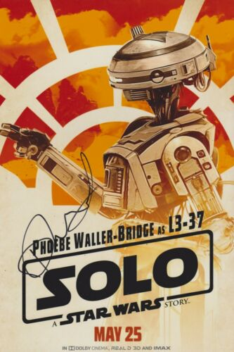 Phoebe Waller-Bridge Signed Solo: A Star Wars Story 12x8 Photo AFTAL