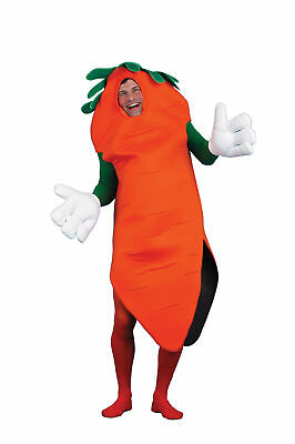 Carrot Adult Costume Mascot Food Vegetable Halloween](Vegetable Mascot Costumes)