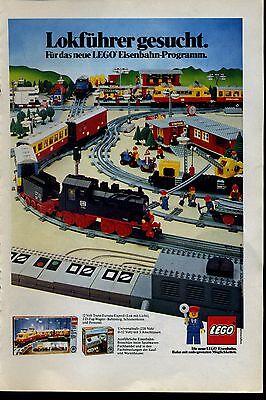 Lego-- Lokführer gesucht--Lego Eisenbahn--Werbung von 1980--