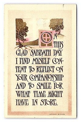 Easter Arts And Crafts (Vintage Postcard Arts and Crafts Easter Gibson Art Sabbath Day)
