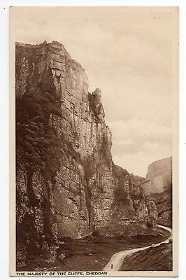CHEDDAR = The Majesty of The Cliffs. c.1930. Unused.