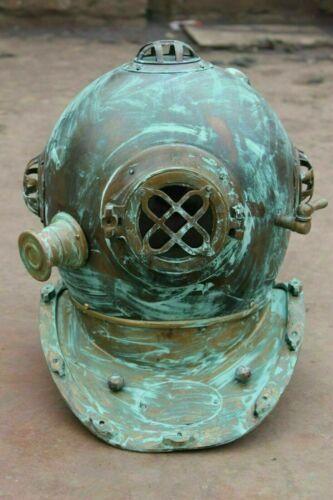 Antique Anchor Morse Brass & Boston Divers Diving Helmet Anchor Copper Sea Scuba