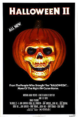 Halloween 2 II Magnet Horror Skull Pumpkin Face Michael Myers Mask Movie Poster  - Halloween 2 Pumpkin Skull
